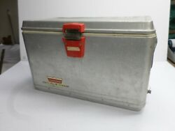 Vintage Cold-flyte-cooler Aluminum Ice Chest - 19 X 10 X 12 High
