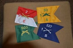 Mini-guidons U. S. Army Nylon Embroidered Two Sided Emblem Or Crests