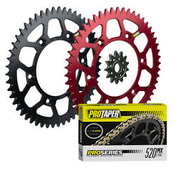 Pro Taper Sprockets And Forged O-ring Chain Kit For Honda Crf250r And Crf250x