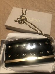JIMMY CHOO MINAUDIERE ACRYLIC WITH GOLD STUDS SHOULDER CLUTCH EVENING BAG 👛RARE $169.99