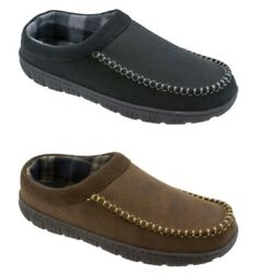 George Men#x27;s Brown or Black Rugged Slip on Clog Slippers Shoes