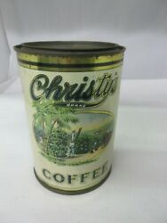 Vintage Advertising Christy's Brand Coffee Tin Can Graphics 733-q