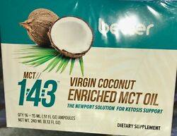 Pruvit Keto Mct 143 Virgin Coconut Enriched Mct Oil - 16 Packs -new Box Sealed