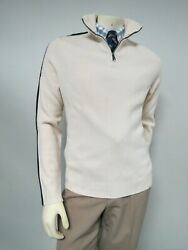 Polo By 100 Cashmere Half Zip Cardigan Sweater Size Large