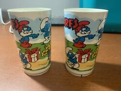 Vintage 1980s Deka Plastic Smurfs Cup And Figures From 2011