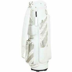 DESCENTE Golf Ladies Caddy Bag Argyle Design 8.5 x 46 inch 2.9kg White DQCPJJ00 $849.81