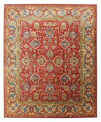 Dee Red 8and039x10and039 Hand Knotted Persian Antique Old Style 100 Woolen Area Rugs