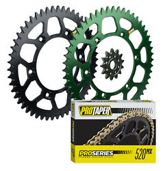 Pro Taper Sprockets And Pro Series Forged Chain Kit For Kawasaki Kdx200/220 Kx500