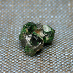 23.5 Mm Uvarovite Garnet Crystals 48 Cts Rare Delicate Old Time Classic Finland