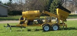 Gold Claimer Pioneer 15 Trommel 8-15 Yrds Per Hr With Hopper And Conveyor