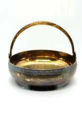 Vintage Russian Soviet Solid Silver N Gold Plated 916 Basket Candy Box