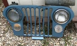 Rare Vintage Original Jeep Grill Will Ship Jeep Xk Wire Mesh Light Covers As Is