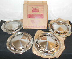 1960 Ford Falcon Edsel B. New Old Stock 13 Nos Wheel Covers Hub Caps Set Of 4