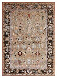 Amritsar Beige 6and0396and039and039x9and0399and039and039 Vintage Finish Oxidize Hand Knotted Woolen Area Rugs