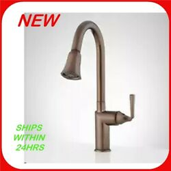 Williston Single Hole Pull Down Kitchen Faucet In Oil Rubbed Bronze  R12