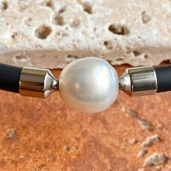 18 Kt White Gold Paspaley South Sea Pearl Pendant Only Swap New 11 Mm Fine
