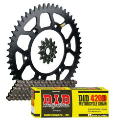 Pro Taper Race Spec Front And Rear Sprocket And Did 420d Chain Kit For Kawasaki Kx65