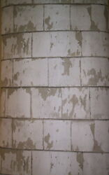 Off White Light Tan Weathered Wood Plank Prepasted Wallpaper 3119-13043