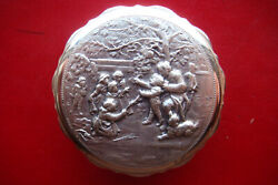 Old Vintage Italy Silvered Trinket Box Made By Silversmith Guido Galbiati