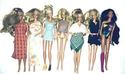Vintage Lot Of 9 Barbie Doll And Ken -1966 And One 1967 - Free Shipping
