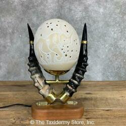 22057 P | Ostrich Egg Lamp For Sale