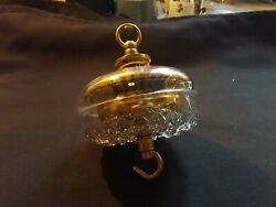 One Reclaimed Antique Brass And Glass Victorian Ceiling Rose Furniture Eer201
