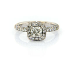 2.00ctw Hearts On Fire Princess Diamond Halo Engagement Ring In 18kt