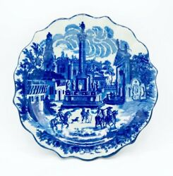 Victoria Ware Ironstone Blue Town Scene Large Plate/charger