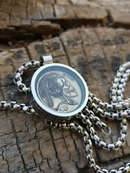 Hobo Nickel Necklace with 26quot; Stainless Steel Chain $19.00
