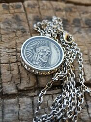 Womens Hobo Nickel Necklace with 26quot; Stainless Steel Chain $25.00