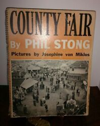 Vintage Illustrated Book County Fair By Phil Strong 1938 Von Miklos Photos
