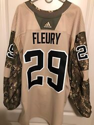 Vegas Golden Knights Adidas Mic Team Issued 2017 Military Jersey Fleury 29