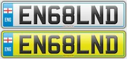 En68lnd Cherished Private Registration Number Plate. Stand Out From The Crowd