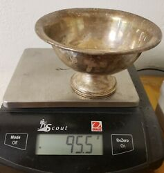 Atkins Weighted Sterling Silver Footed Bowl 4 1/2andrdquo Wide X 3andrdquo Tall95.5 Grams