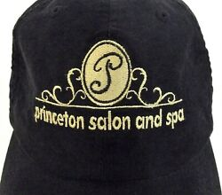 Black Baseball Hat Cap Princeton Salon & Spa Womens One Sz Adjustable Strap