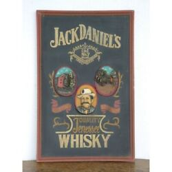 Extremely Rare Jack Daniels Whisky Big Old Antique 3d Wooden Advertising Sign