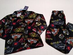 Seven Apparel  Boys  2-Piece Pajama Set  TopBottom  Fuel Black  Sz-56  NWT
