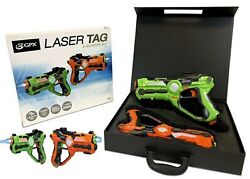 Gpx Laser Tag Blasters 2 Pack Ages 8+ Toy Play Fight Gun Gift Set Girls Boys Fun