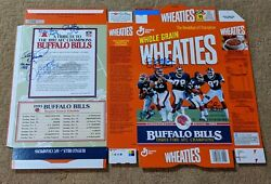 Buffalo Bills Auto Autographed Signed By 7 Factory Flat Wheaties Cereal Box Coa
