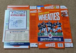 Buffalo Bills Auto Autographed Signed By 6 Factory Flat Wheaties Cereal Box Coa