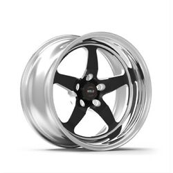 Weld Racing 71hb7100w67a Street And Strip 17x10and039and039 Black S71 High Pad 5x115mm New