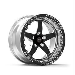 Weld Racing 71lb7100a80f Street And Strip 17x10and039and039 Black S71 Low Pad 5x4.5and039and039 New