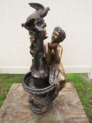 Bronze Fountain Woman Cupping Hands