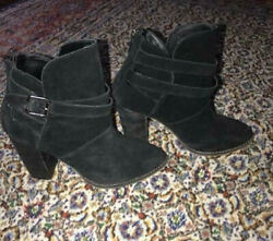 Chinese Laundry Black suede booties 7.5