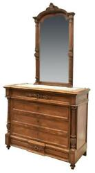 Antique Commode French Louis Phillipe Mirrored Dresser 1800s Gorgeous