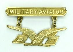 Authentic 1913 Pattern Military Aviator Badge/wings Army Signal Corps Blackinton