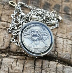 Womens quot;Gremlinsquot; Hobo Nickel Necklace with 26quot; Stainless Steel Chain $25.00
