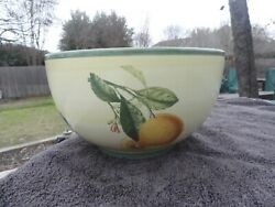 Villeroy And Boch French Country Fruit Large Round Yellow And White Serving Bowl