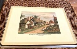 Vintage Pimpernel Placemats 6 W/box 9x11 And Six Coasters