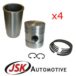 Pistons Cylinder Liners Pins Rings For International Harvester Bd-144 B275 434